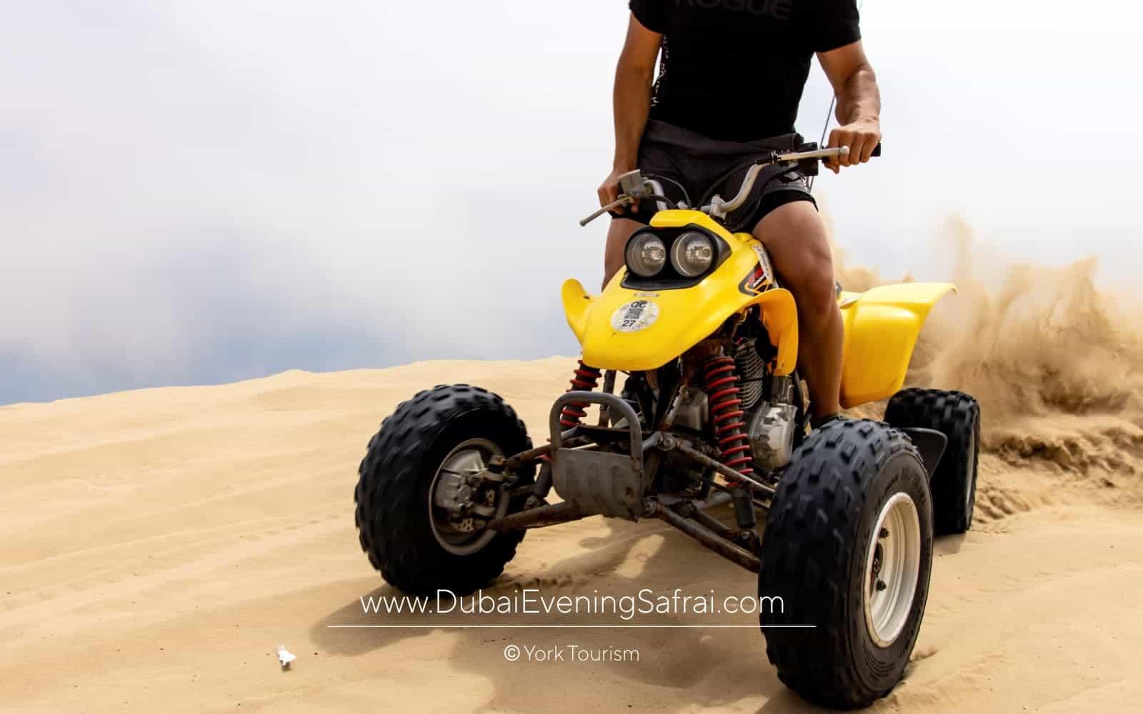ATV quad bike in desert safari