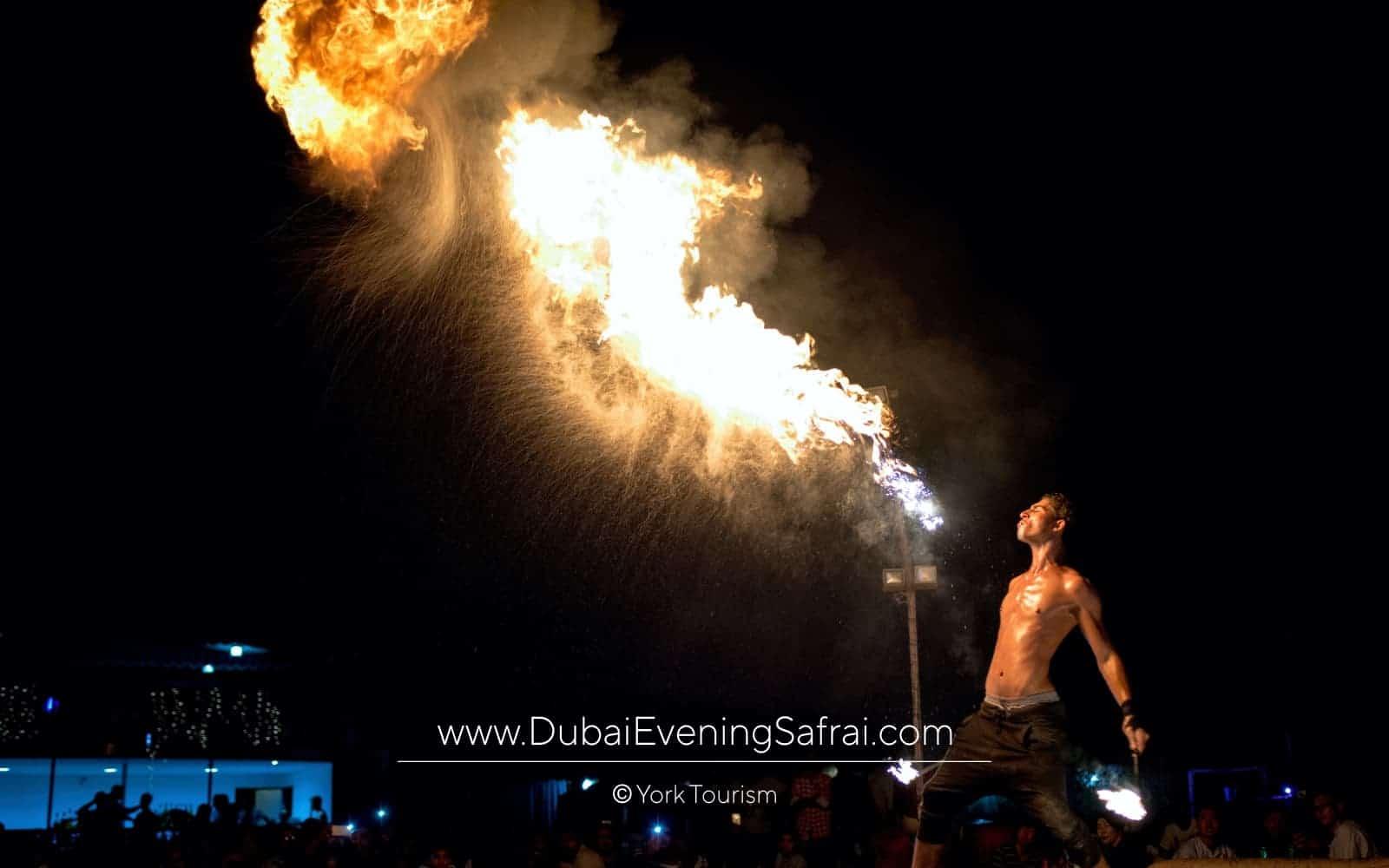 fireshow dance in desert safari dubai